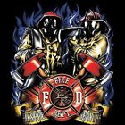 FIRE FIGHTER RESCUE SERVE T SHIRT CHEST LOGO M TO 6X BLACK OR GRAY