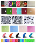 "Laptop Rubberized Hard Case+Keyboard Cover for Apple Mac PRO 13 /15"" Air 11/13"""