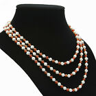 s227  AA 3-4mm 4mm white yellow red black green agate pearl necklace pendants