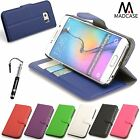 Premium Leather Wallet Diary Case Cover for Samsung Galaxy S6 S6 Edge