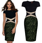 Charming Womens Slim Short Sleeve Celebrity Bodycon Party Cocktail Evening Dress