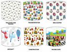 Kids Transportation Trucks Lampshades Ideal To Match Childrens Diggers Wallpaper