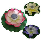 1x Solar Power Floating Lotus Light Pool Pond Garden Lamp 3colors 2v 40ma