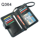 Men Genuine Leather Credit Card Coin Holder Cell phone Clutch Wallet With Zipper
