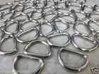 D Rings heavy duty chrome finish metal webbing curtain tieback 25 mm