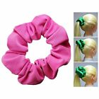 Hot Pink Soft & Silky Scrunchie Ponytail Holder Hair Accessories 50+ Colors
