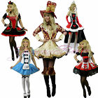 Yummy Bee Fancy Dress Costume Alice Wonderland Womens Queen Mad Hatter Plus Size