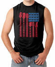 Guitar American Flag - Musician Instrument Men's SLEEVELESS T-shirt