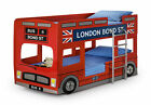 London Bus Bunk Bed | Childrens Novelty Bunk Bed | Kids Red Car Bed