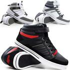 MENS DESIGNER HI TOPS TRAINERS NEW BOYS HIGH ANKLE FLAT CANVAS PUMPS BOOTS SHOES