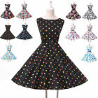 Vintage 50s 60s Housewife Rockabilly Swing Pinup Evening Dress Multi-style Women