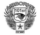 US Army 101st Airborne Wings Eagle Military Vinyl Decal Sticker Window Wall Car