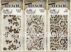 "Tim Holtz 4-1/8"" x 8.5"" Layered Stencil Background Lot Select from Options"