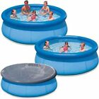 LARGE PADDLING GARDEN POOL KIDS FUN FAMILY SWIMMING OUTDOOR INFLATABLE 8' 10'