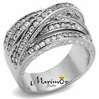 Women's Round Cut Cubic Zirconia Stainless Steel Anniversary Ring Size 5-10