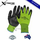 Hi Vis Nitrile Safety Gloves Work Gloves General Purpose PPE 24 Pairs M, L, XL