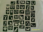 Etching stencils for glass  hobby craft glassware gift present mixed 10 - 100