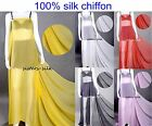 100% Pure Silk Chiffon Fabric Width 135cm for Apparel & Fashion Bridal & Craft