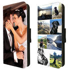 Personalised Photo Phone Case Flip Cover Single Picture or Collage