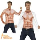 Adult Realistic Muscle Top Mens Stud Stag Fancy Dress Costume Outfit New