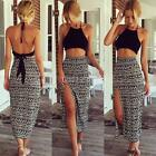 Chic Women Summer 2 Piece Set Boho Dress Bralet Cami Crop Tops+Long Maxi Skirt