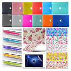"Hard Rubberized Case Shell + Keyboard Skin For MacBook Pro Air 11""13""15"" Retina"