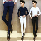 Men's Trendy Slim Staight Leg Casual Long Pants Business Party Trousers 29-33