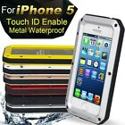 Water Resistant Dust & Shockproof Phone Aluminum Metal Case Enable for iPhone
