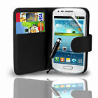 PU LEATHER WALLET CASE COVER FOR VARIOUS SAMSUNG GALAXY MOBILE PHONES