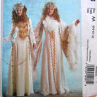 MCCALLS SEWING PATTERN 5206 Snow Queen Narnia White Witch Dress Costume Medieval