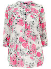 EVANS NEW WHITE PINK GREY FLORAL PRINT COTTON T SHIRT TUNIC BLOUSE TOP PLUS SIZE