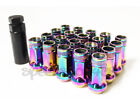 Z RACING 48MM TUNER STEEL NEO CHROME 20 PCS 12X1.5MM LUG NUTS OPEN EXTENDED