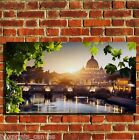 ROME VATICAN CITY SCENE CANVAS WALL ART BOX PRINT PICTURE SMALL/MEDIUM/LARGE