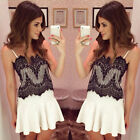 Sexy Women's Lace Short Mini Dress Evening Cocktail Party Summer Casual Sundress
