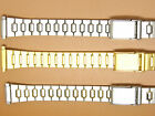 Stainless Steel, Gold Plated, Two Tone Watch Strap Bracelet,  12mm 13mm 14mm