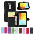 Flip Magnetic Card Wallet PU Leather Case Stand Cover For LG L Fino D295 D290N