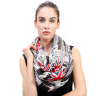 Vintage Newspaper Union Jack Print Women's Infinity Scarf Lightweight