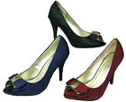 LADIES PEEP TOE COURT SHOES ( ANNE MICHELLE L2251)
