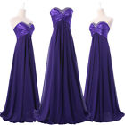 New Formal Long Evening Party Prom Bridesmaid Chiffon A Line Dresses Size 6-20