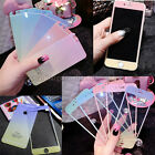 Front Back Tempered Glass Screen Film Protector Glitter Colored Cover for iPhone