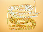 Silver or Gold Plated Heavy Pocket Watch Chain Albert Double Curb Links 7.5x9mm