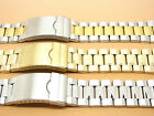 S/Steel Two-Tone Gold Plated Watch Strap Bracelet 22mm 24mm 26mm XL, Extra Long