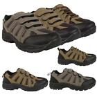 Mens Trekking Walking Hiking Lace Up Velcro Trail Ankle Boots Trainers Shoes