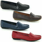 LADIES FLAT LEATHER MOCCASIN STYLE SHOES (SPOT ON F8876
