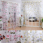 Home Brilliant Peony Tulle Window Screens Door Balcony Voile Curtain Sheer Cover