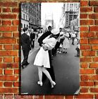 TIMES SQUARE KISS NEW YORK CANVAS WALL ART BOX PRINT PICTURE SMALL/MEDIUM/LARGE