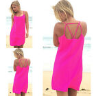 Fashion Summer Sexy Women Sleeveless Evening Party Casual Short Mini Dress Tops