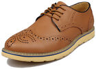New Men Leather Brogue Oxford Formal Casual Dress Wingtip Lace Up Wedding Derby