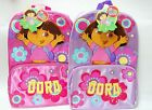 """Dora the Explorer Flowers 16"""" Book Bag Backpack ~ Padded Straps ~ New With Tags"""