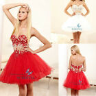 White/Red Sweetheart Short Homecoming Dress Cocktail Party Evening Prom Dress